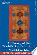 Libro de A Library Of The World S Best Literature   Ancient And Modern   Vol. X (forty Five Volumes); Colman Dalin