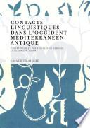Libro de Contacts Linguistiques Dans L Occident Méditerranéen Antique