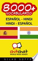 Libro de 8000+ Español   Hindi Hindi   Español Vocabulario