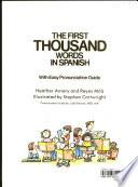 Libro de The First Thousand Words In Spanish