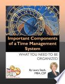 Libro de Important Components Of A Time Management System