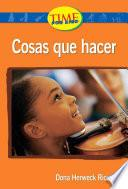 Libro de Cosas Que Hacer (things To Do): Upper Emergent (nonfiction Readers)
