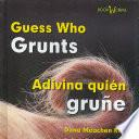 Libro de Guess Who Grunts/adivina Quien Grune