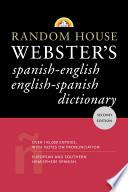 Libro de Random House Webster S Spanish English, English Spanish Dictionary