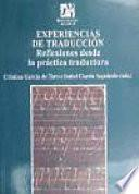 Libro de Experiencias De Traduccion/ Experiences Of Translation